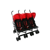 Triple pushchair